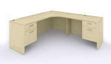 Amber 'l' shaped credenza / desk, w/ inner curve