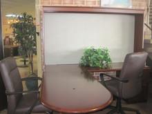 "L-Shape ""Steelcase"" Wood Desk w/credenza"