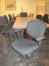 Black Fabric Task Chair With Arms