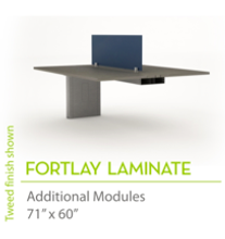 "Fortlay Laminate 71"" x60""-Straight Edges"