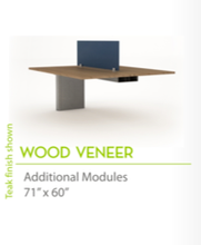 "Wood Veneer 71"" x60""-Knife Edges"