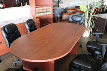 Conference table, racetrack conference table