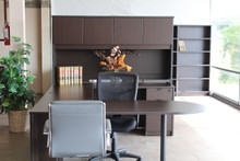 Bullet U-shaped desk Espresso