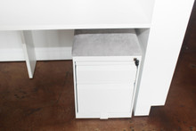 Reception desk white 3-drawer filing cabinet
