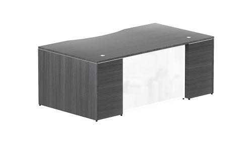 white glass furniture chest drawer bow front desk shell white glass modesty panel rectangular orlando office