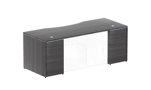 white glass furniture high gloss rectangular desk shell white glass modesty panel orlando office