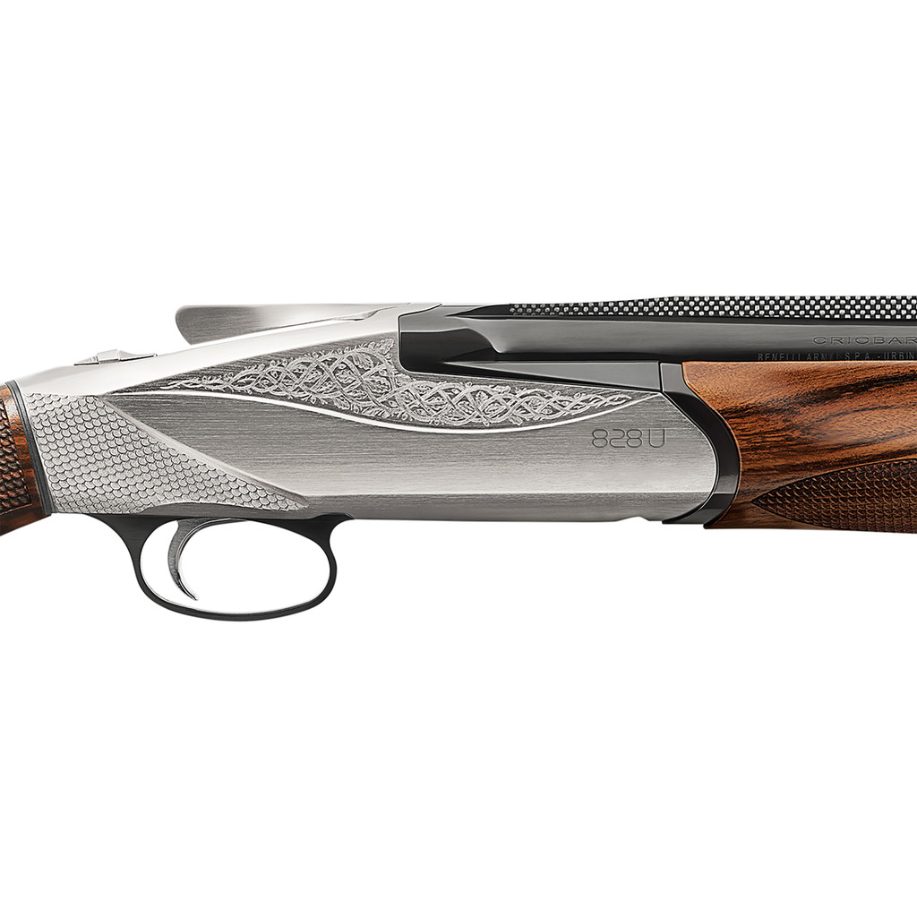 "Benelli 828U Nickel 12 Gauge 28"" Shotgun"