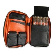 Daniel Marshall Silky Leather 5-Cigar Travel Case