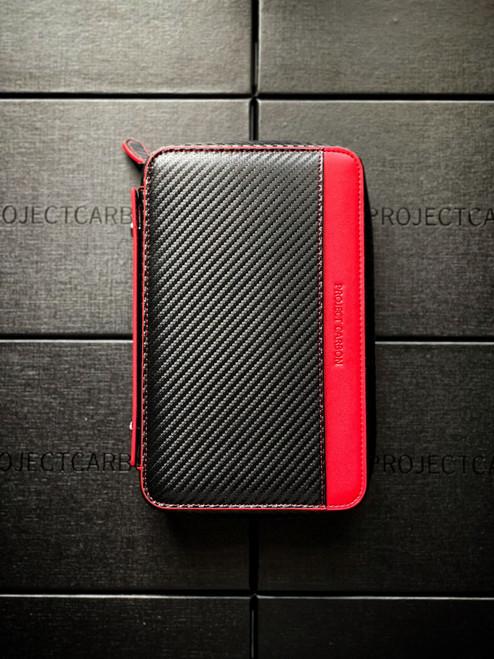 Project carbon, cigar travel case, case, carbon fiber, orange