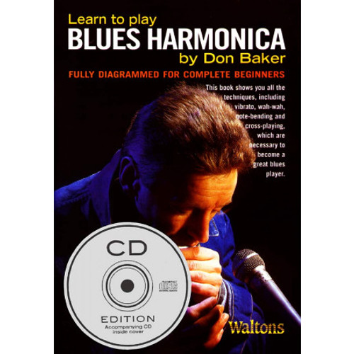 Learn to Play The Blues Harmonica Book&cd Pk
