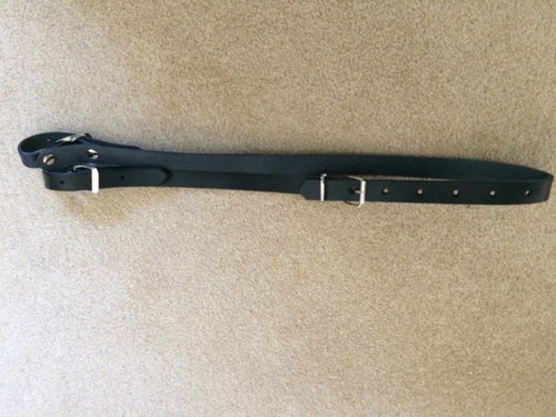 bellow strap black, length 130 mm