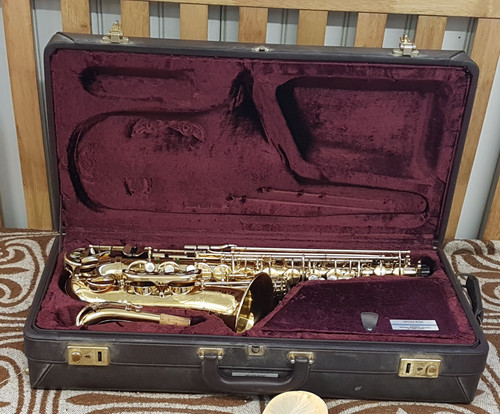 Buffet Alto Saxophone kit in case.