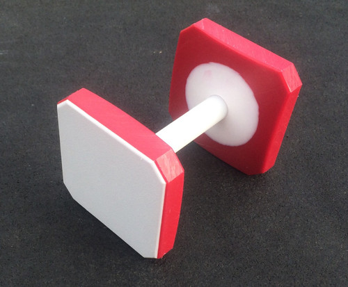 Plastic Dumbbell (White/Red/White)