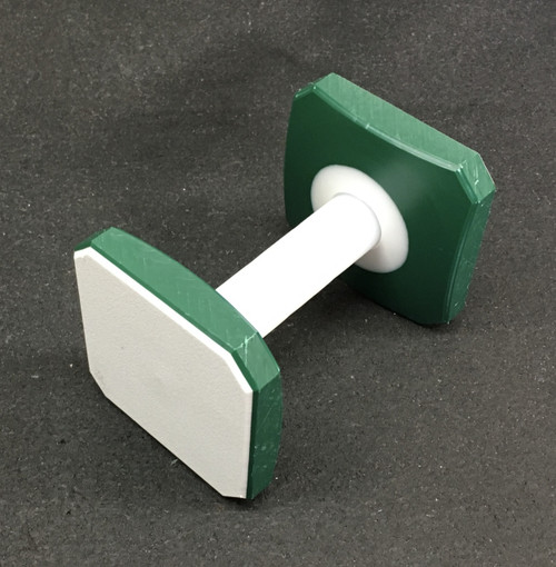 Plastic Dumbbell (White/Green/White)
