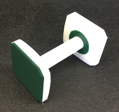 Plastic Dumbbell (Green/White/Green)