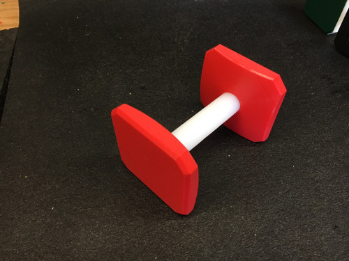 Plastic Dumbbell (Red)