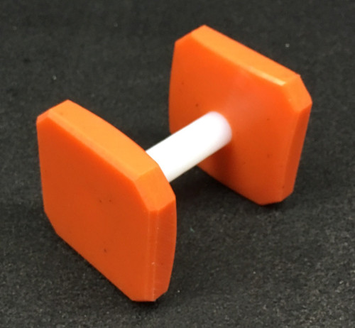 Plastic Dumbbell (Orange)