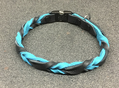 Braided Leather Buckle Collar (spaced Braid)