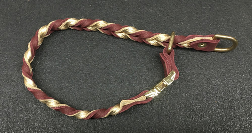 Braided Leather Slip Collar with Buckle