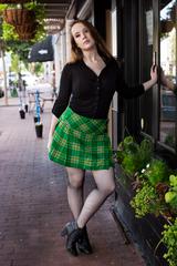 Women's Mini Tartan Skirt