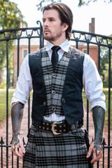 Tailored Tartan Layered Vest