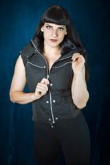 Puma Vest - Black w/ Fur - XS