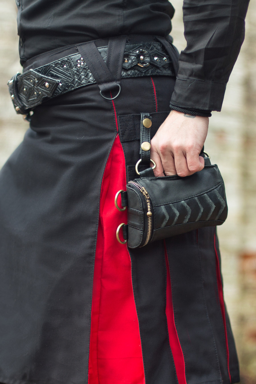 Wallet Pocket with brass details attached to Versatta Kilt molle straps