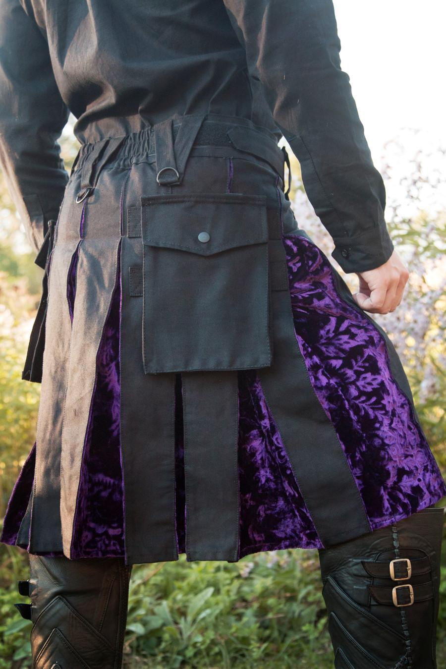 Versatta Series Velvet Hybrid Kilt in Purple