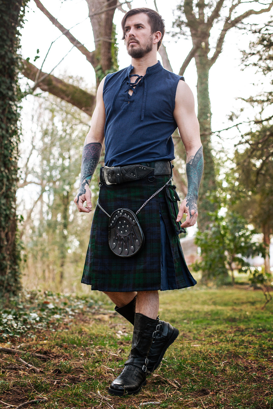 Versatta Blackwatch Inverted Hybrid Tartan Kilt