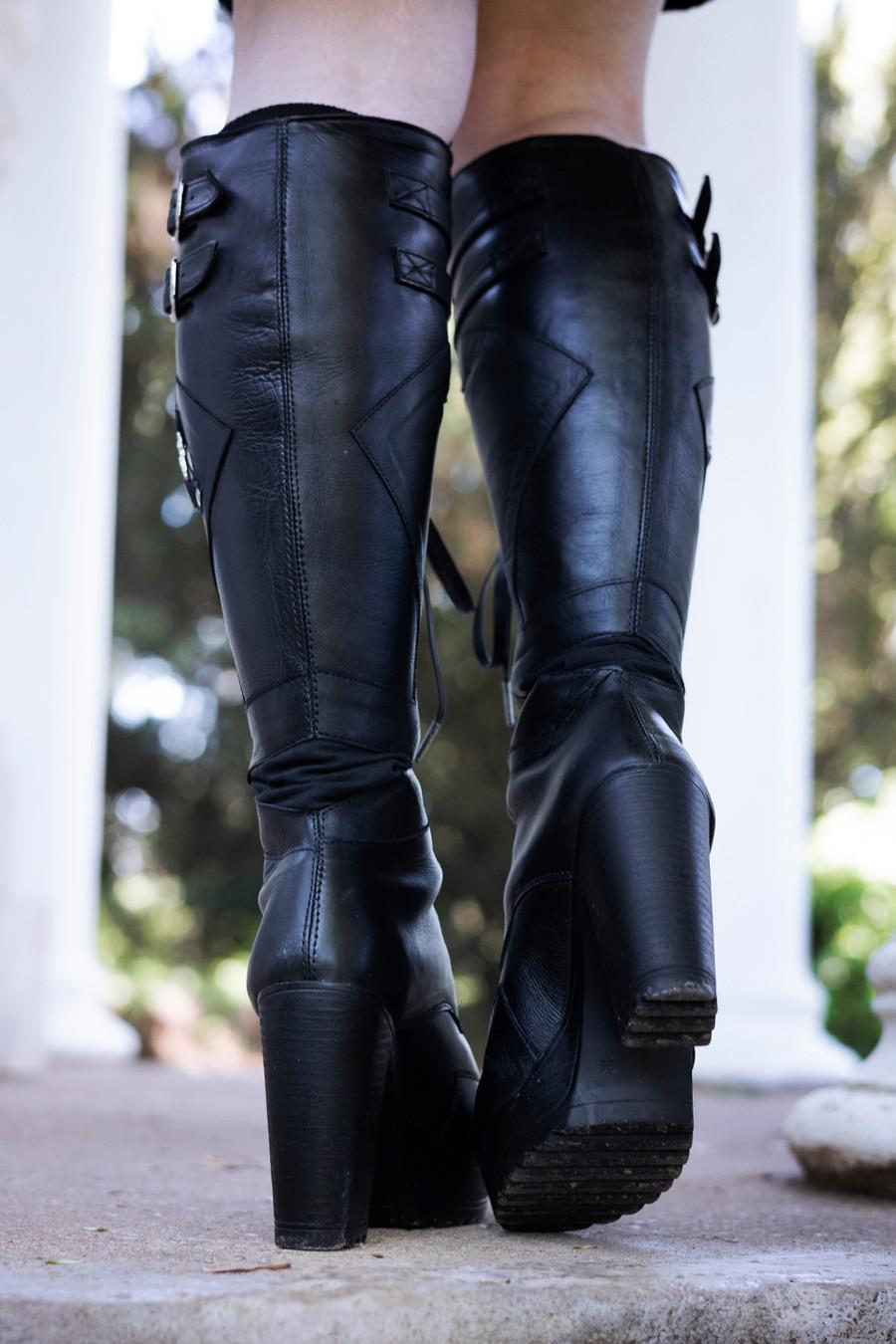 Monolith Heeled Moto Boots