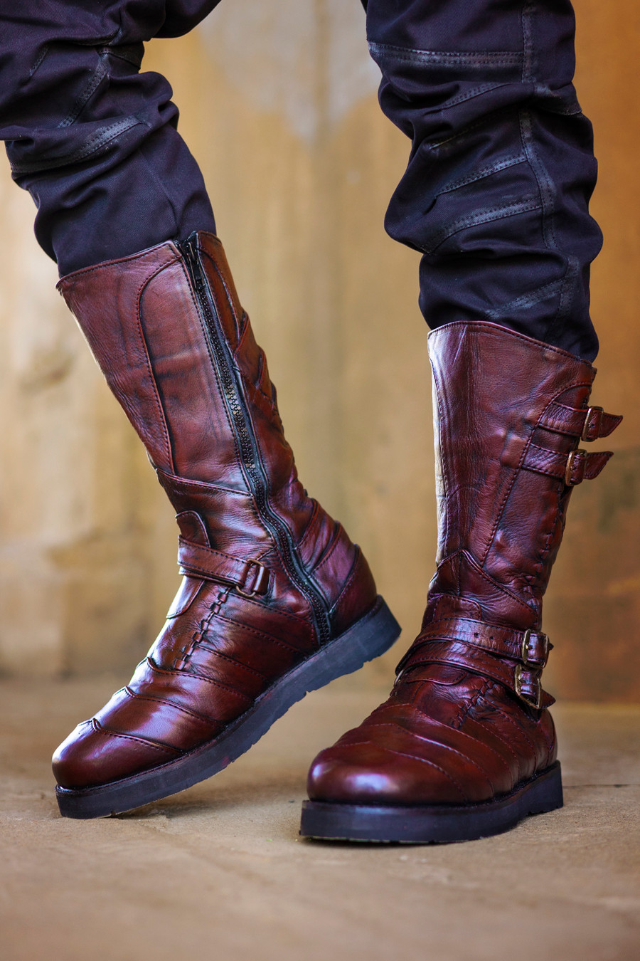 Corsair Moto Boots (with Hidden Pockets) - Giant's Blood
