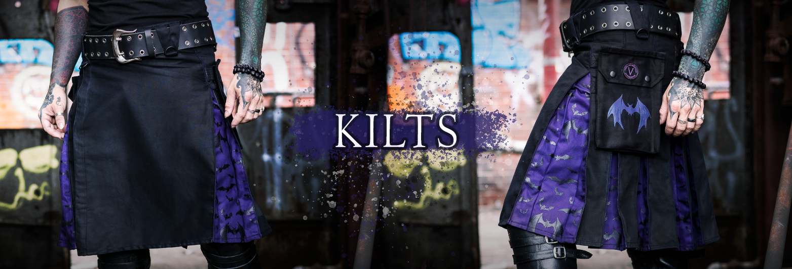 Verillas Kilts - Versatta Hallows Wings Bat Halloween Kilt