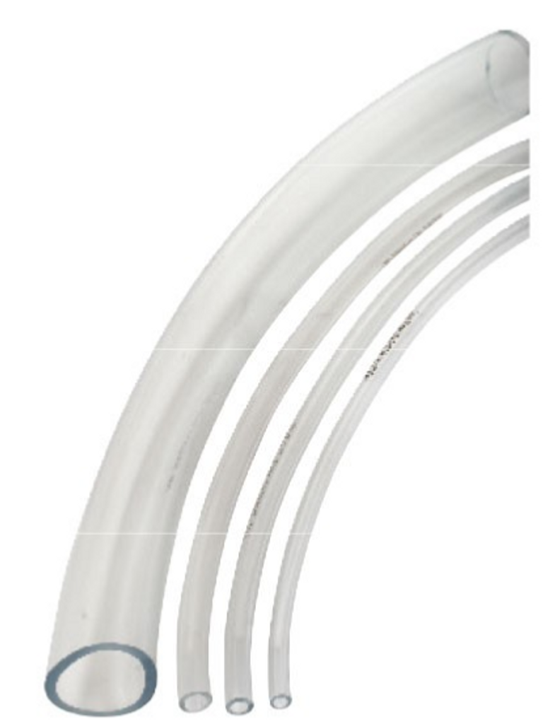 """Clear Vinyl Tubing used for air or water.  Available in a wide variety of sizes from 3/16"""" up to 1.25"""".  Comes in 100' coils."""