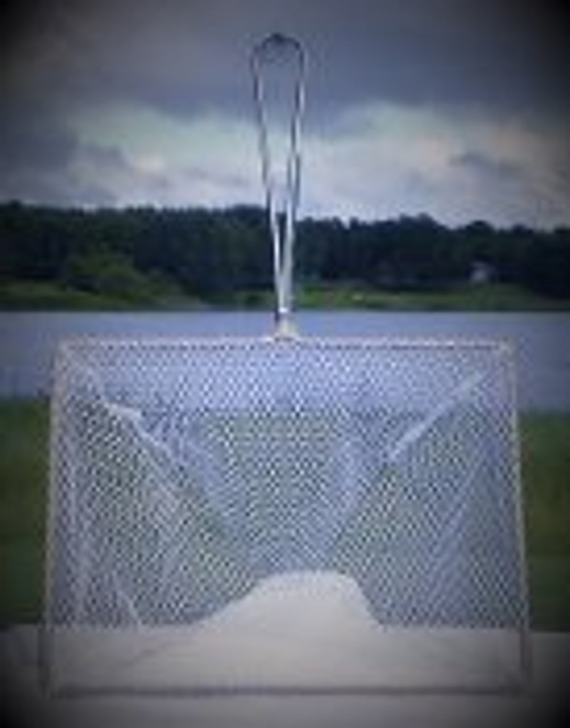 "12"" x 16"" net shown standing up with mesh"