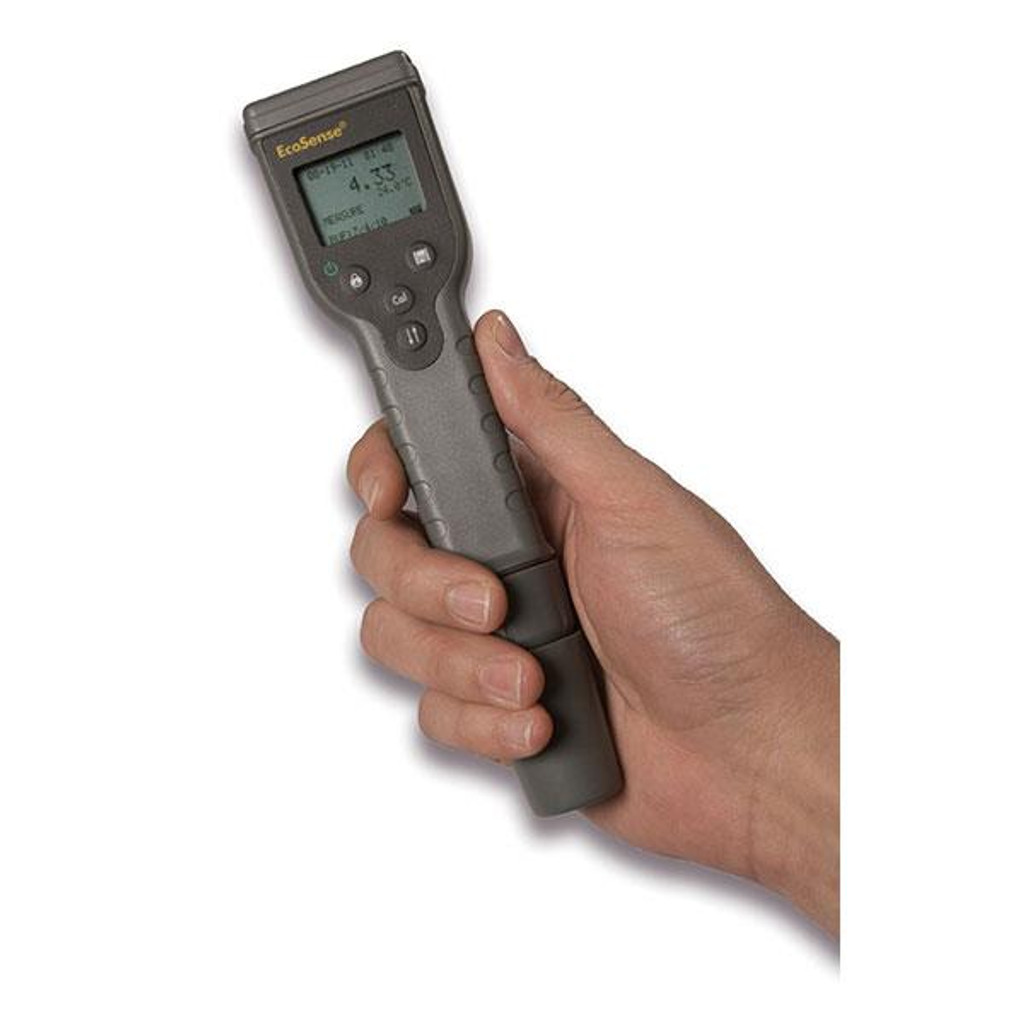 Ecosense conductivity Pen shown held in a hand