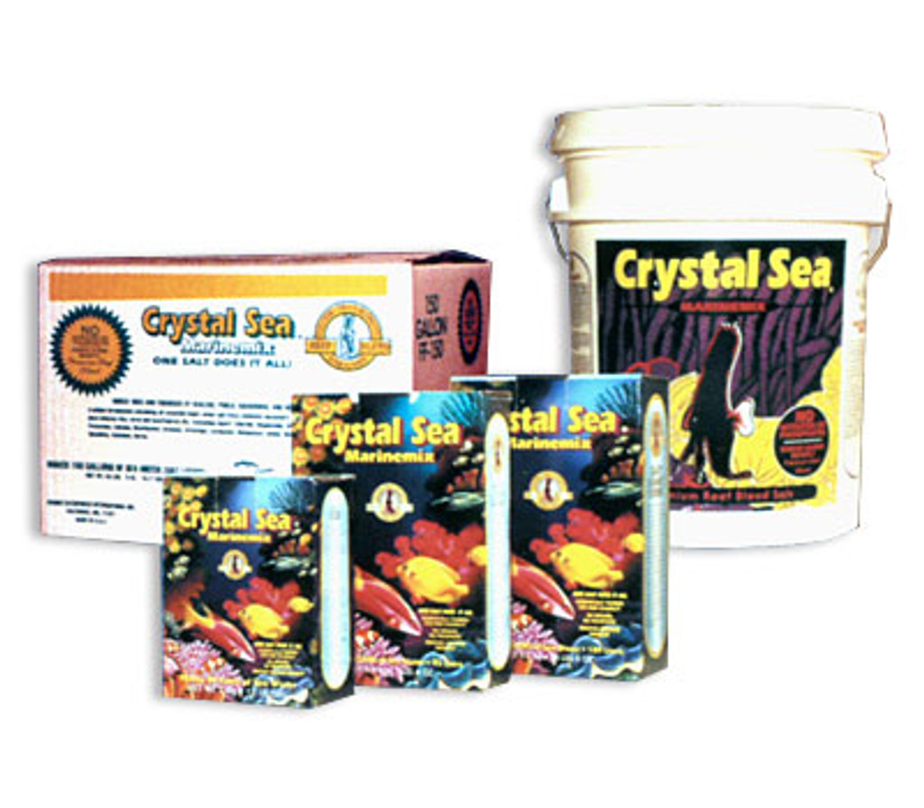 Multiple sizes of crystal sea salt