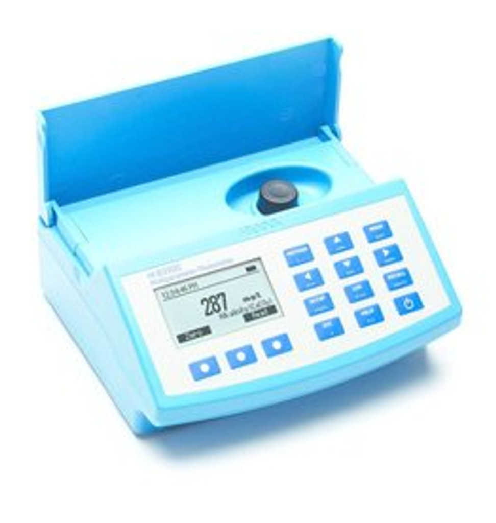 Photometer with lid open