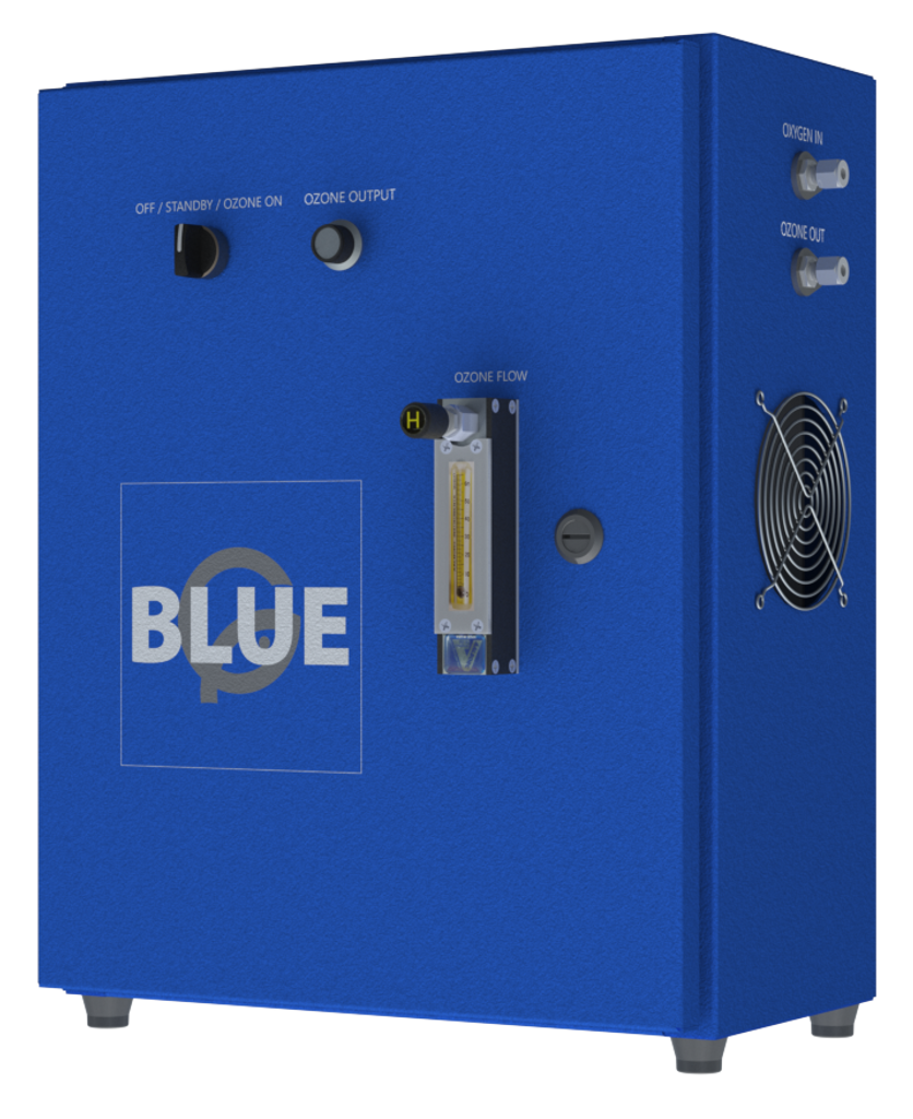 Blue Box Ozone Generator from Right Side