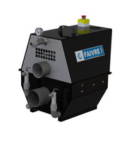 Small faivre drum filter shown with complete tank mount