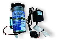 Aqua FX booster pump kit.  Displays pump, transformer, and accessories.