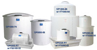 Several Poly tanks in a variety of shapes and sizes.