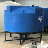 1150-gallon Round Cone Bottom Poly Tank