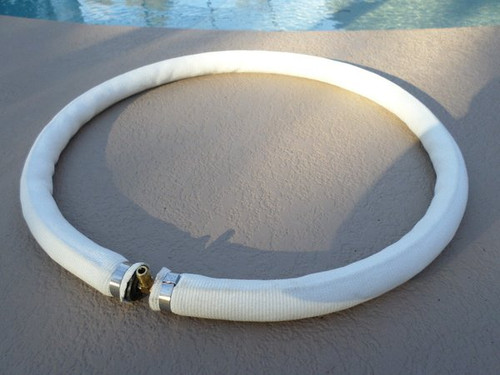 Diffuser ring shown out of the water, which shows how it connects to the air line fitting