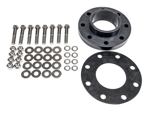 Flange kit showing all included components