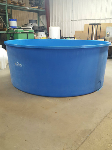 10' diameter poly tank in shop