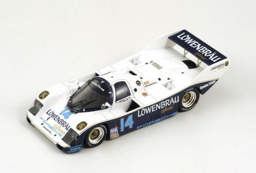 """Al Unser Jr.  1987 Porsche 962  #14 """"Lowenbrau""""  1:43"""