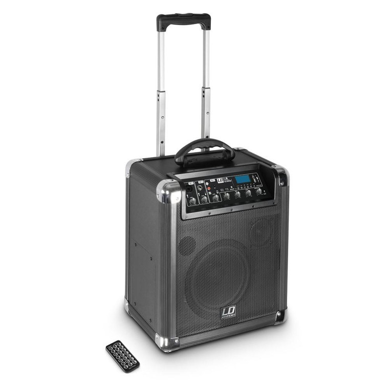 LD Systems Roadjack 8 Battery Powered Portable PA Speaker with Media Player & Bluetooth
