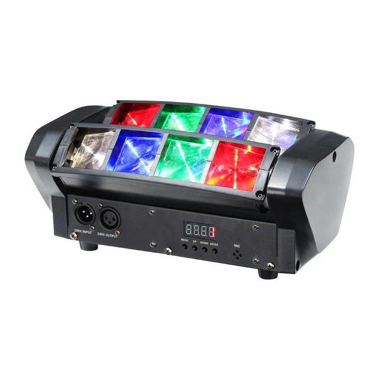 Equinox Onyx Compact 8 x 3W RGBW Multicolour Moving Beam Lighting Effect with DMX