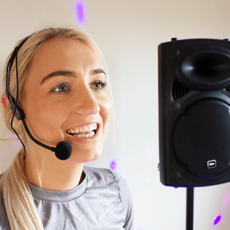 Fitness Audio Headset Microphone Aerobics Speaker System Gym Class