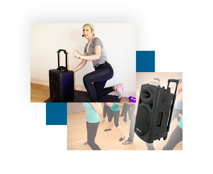 Portable PA System fitness classes gym instructors